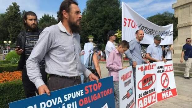 В Кишинёве взбунтовались верующие против вакцинации