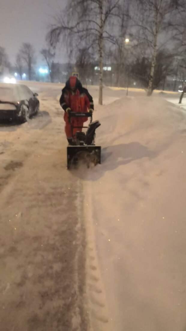 В Марьиной роще уборка снега будет проходить круглосуточно