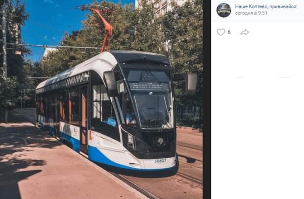 Фото дня: трамвай нового типа в Коптеве