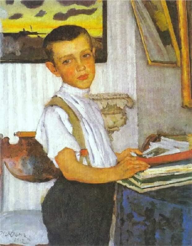 Портрет Бори Юона, сына художника. (1912 год). Автор: Константин Юон.
