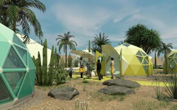 5 футуристичных фото куполов для бездомных в Лас-Вегасе