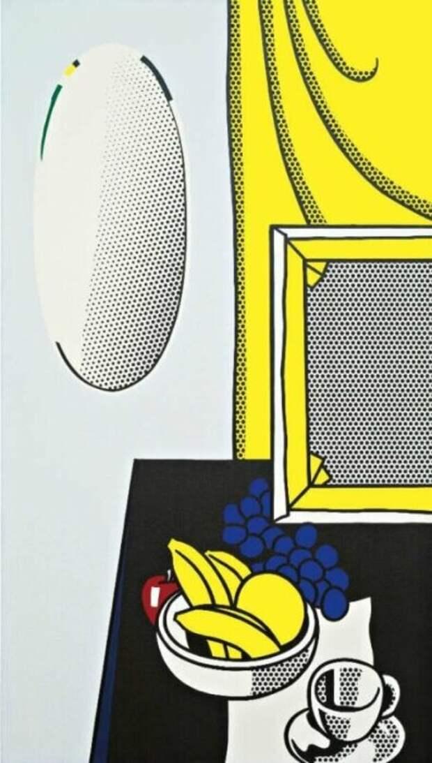 Натюрморт с зеркалом, Рой Лихтенштейн, 1972 год. \ Фото: 318art.cn.