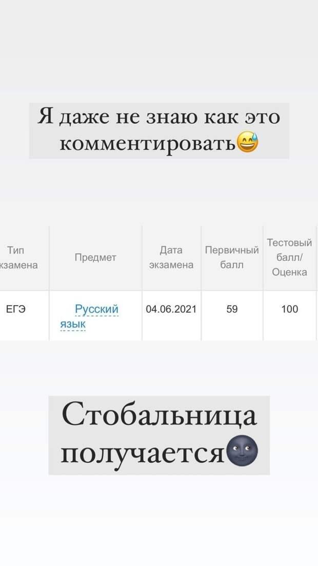 Фигуристка Тютюнина сообщила, что сдала ЕГЭ порусскому языку на100 баллов