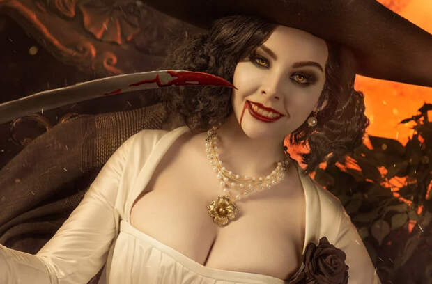 Леди Димитреску, принцесса даэдра из Skyrim и Ари из LoL — косплей (18+)