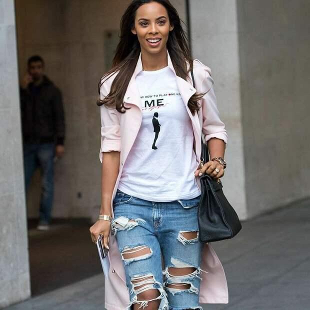 Звёздный стиль и модный образ с джинсами