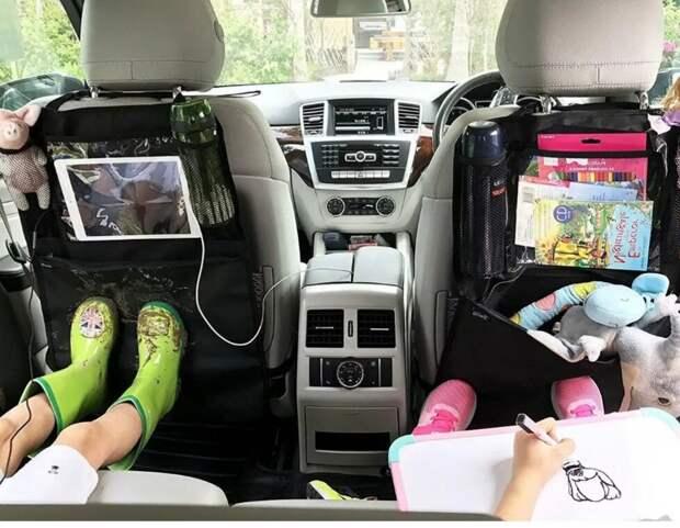 Путешествие в машине с детьми. Как сохранить салон чистым до конца поездки.