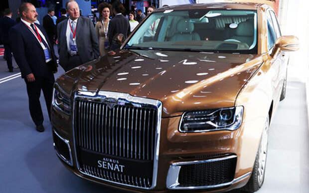 «Золотой» Aurus Senat пригнали на Петербургский международный экономический форум