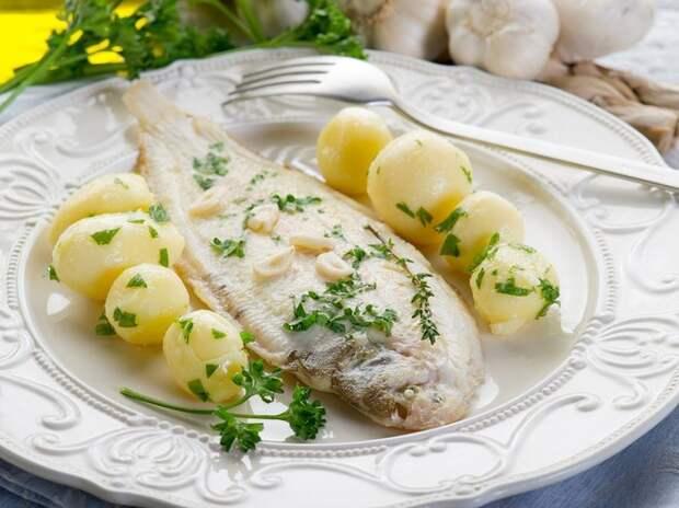 Рыба по-французски в белом вине