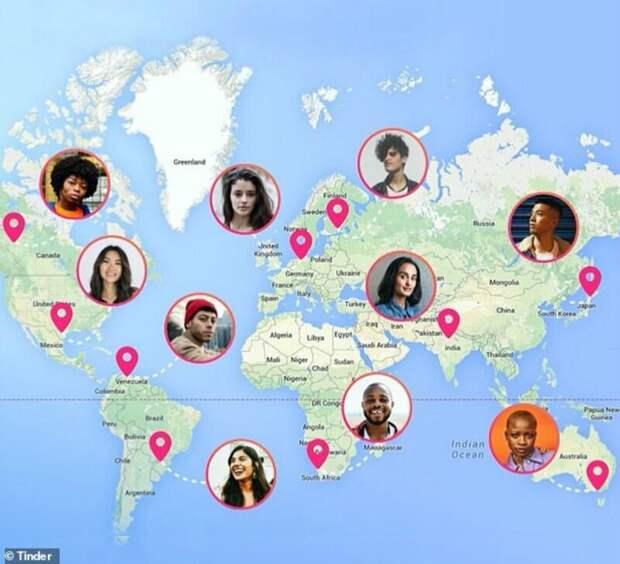 Найдите свою половинку: Tinder бесплатно дает функцию общения с пользователями из разных стран