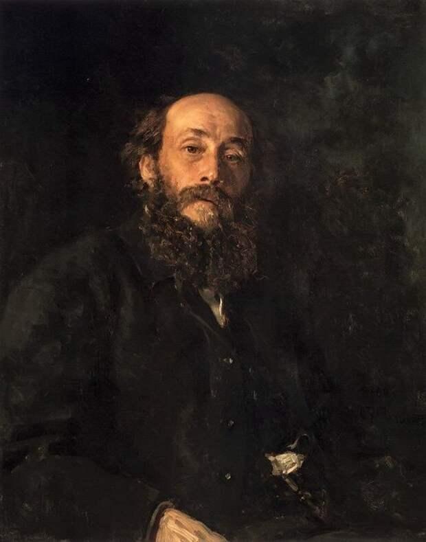 Портрет художника Н. Н. Ге.(1880). Автор: Илья Репин.