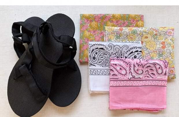 переделка сандалей шлепок летней обуви