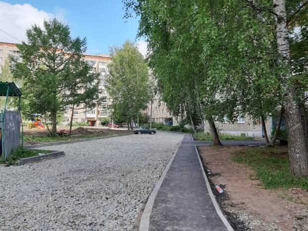 Ремонт асфальта завершен в 15 ижевских дворах
