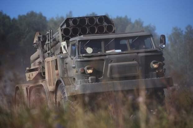 ВС Украины провели учения РСЗО «Ураган» у границы с Крымом