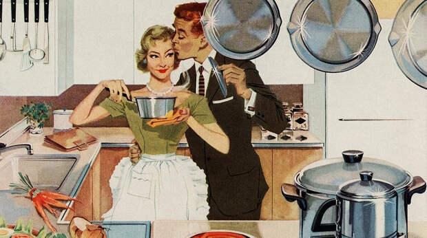 Как нужно встречать мужа с работы: руководство идеальных жен 1950 года