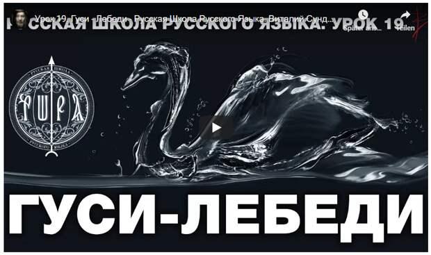 Русская Школа Русского Языка. Гуси — Лебеди. Урок 19. Виталий Сундаков