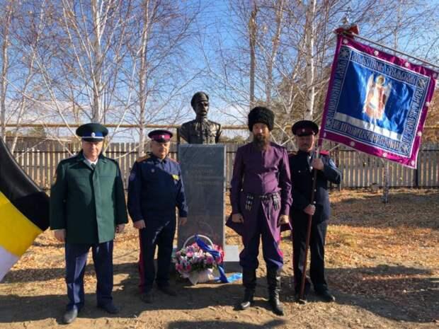 В Оренбургской области открыли памятник казаку, который убил Чапаева