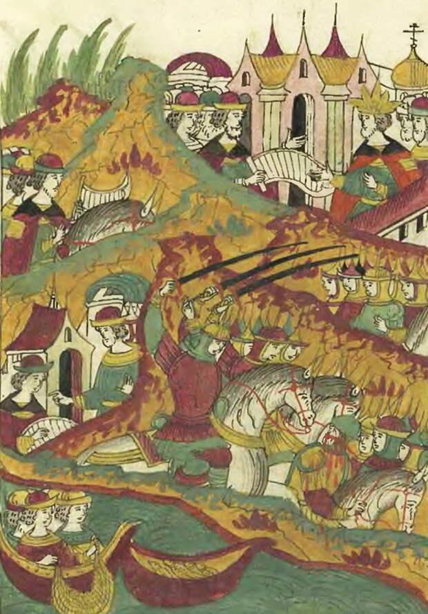 Малая война на пограничье. 1558 год. Лицевой летописный свод, том 23 - «Война двух царей»: стратегия непрямых действий | Warspot.ru