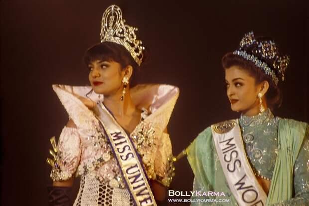 Sushmita Sen & Aishwarya Rai Miss India 1994 photo