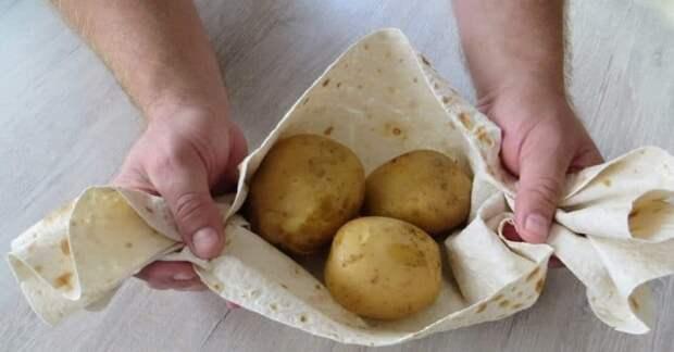 Кыстыбый с картошкой