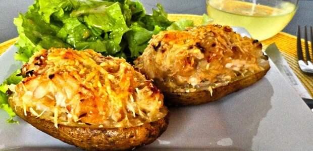 Картофель, запеченный в мундире вкусно, интересное, картофель, полезно, рецепт