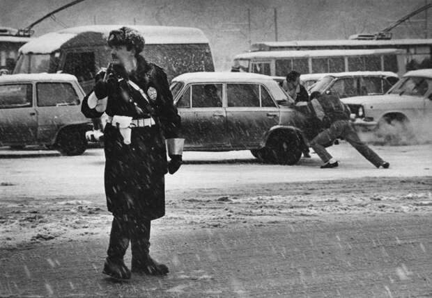 Московский регулировщик, 1994 год. 90-е, СССР, фото