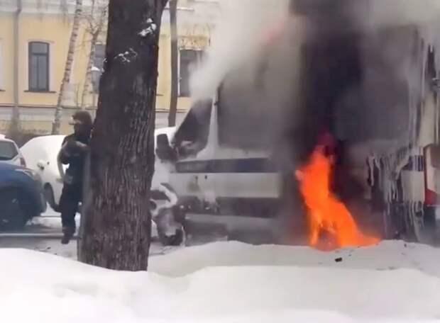 Арестован мужчина, подозреваемый в поджоге автомобиль Росгвардии