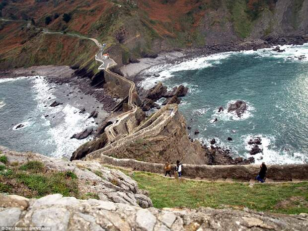 Tourists can see the coast of the Bay of Biscay from the location, which sits in the north of Spain, and enjoy panoramic views of the 60-million-year-old surroundings