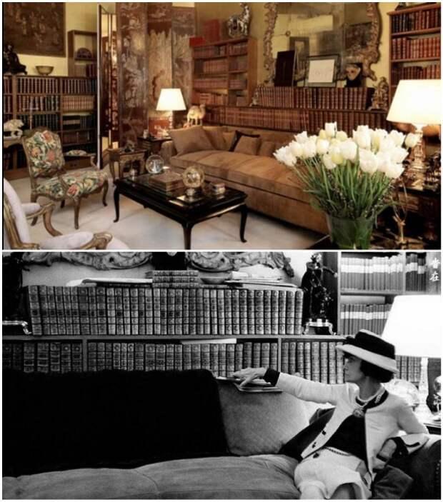 В книгах Габриель черпала не только знания, но и вдохновение (Париж, Франция). | Фото: beicon.ru/ vintage-dream-s.livejournal.com.