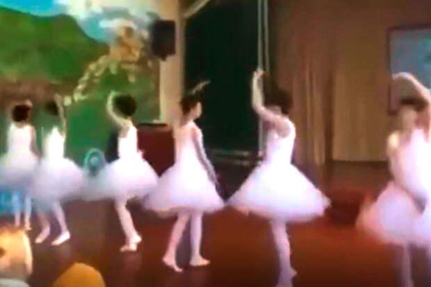 Ролик спереодетыми вбалерин дагестанскими школьниками разделил россиян