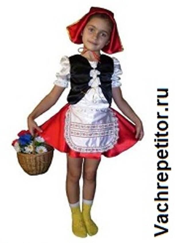 Новогодние детские костюмы. Красная шапочка