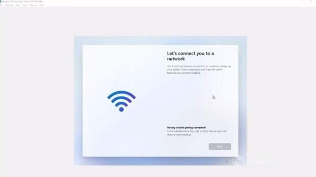 Завершение установки Windows 11 Home требует подключения к Сети