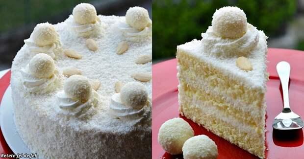 Торт Рафаэлло — такой же вкусный, как конфеты, но можно сделать самому