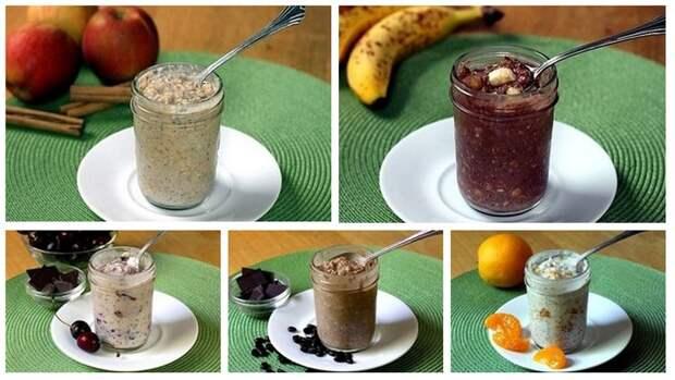 Самая вкусная ленивая овсянка: здоровый быстрый завтрак, который не надо готовить