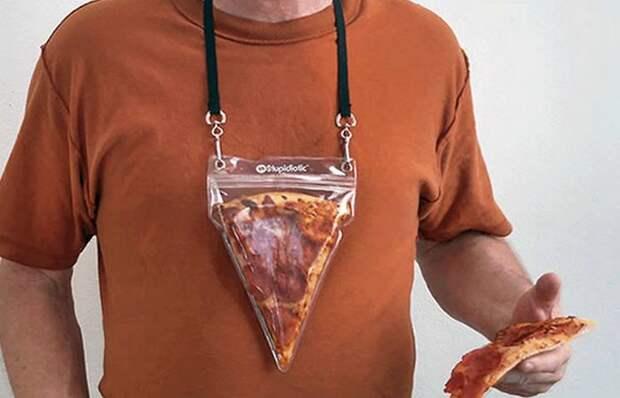 Необычное украшение: ожерелье «Кусок пиццы».