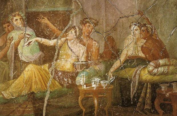 Как вели себя за столом древние греки