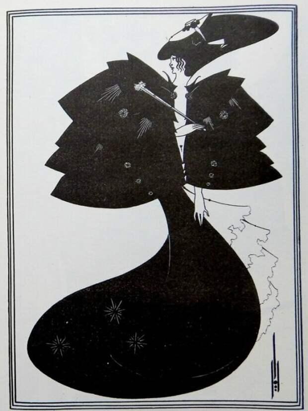 Чёрный капот. Иллюстрация к пьесе О.Уайльда «Саломея». \ Фото: livejournal.com.