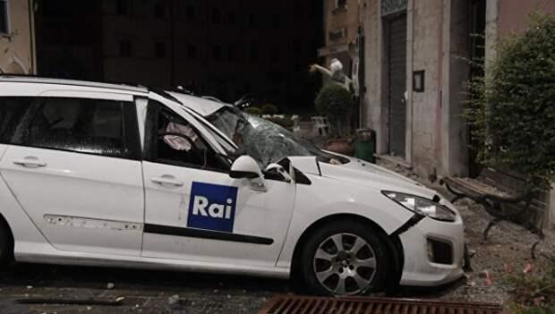 Сильное землетрясение произошло в центральной части Италии