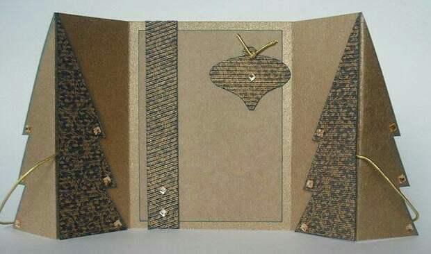 Складная открытка полуоригами (МК+шаблоны)