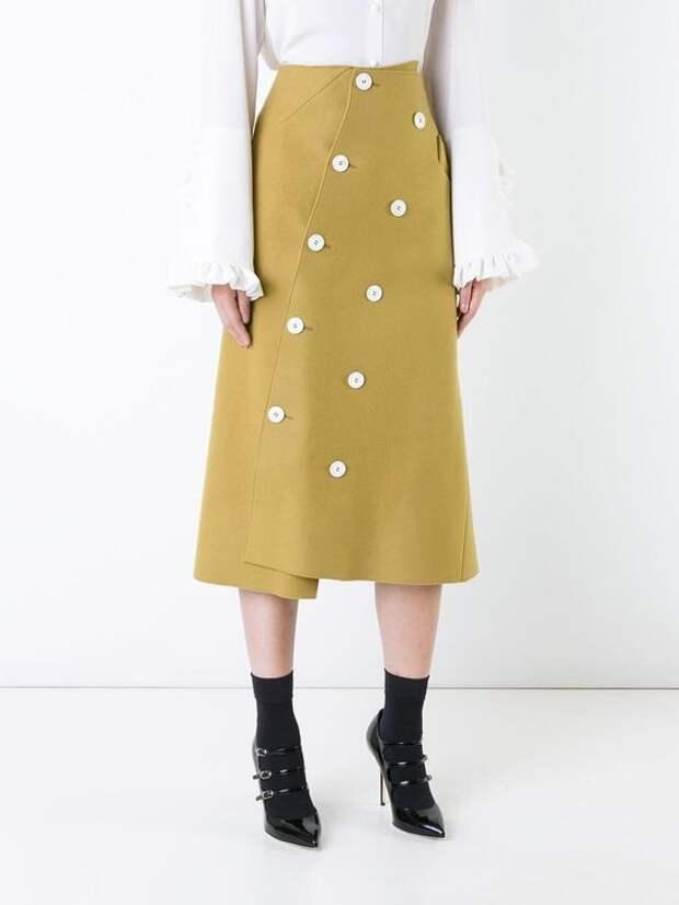 Застёжка юбки по диагонали