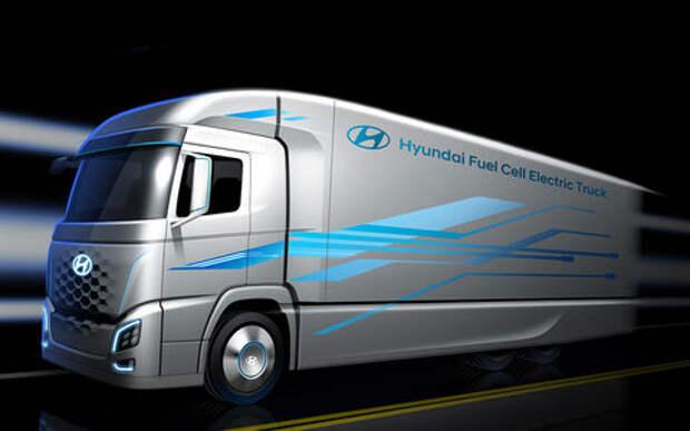 Нереальный тягач Hyundai на водороде: выглядит круто