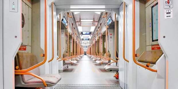 С начала года в метро столицы стало в 1,5 раза больше новых поездов «Москва-2020». Фото: Ю. Иванко mos.ru