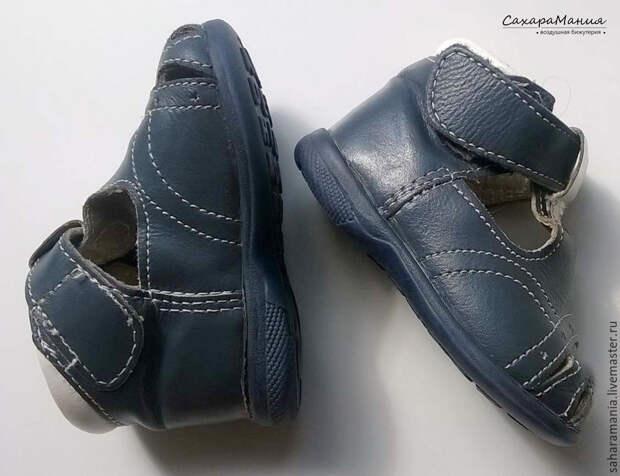 декор детского ботиночка
