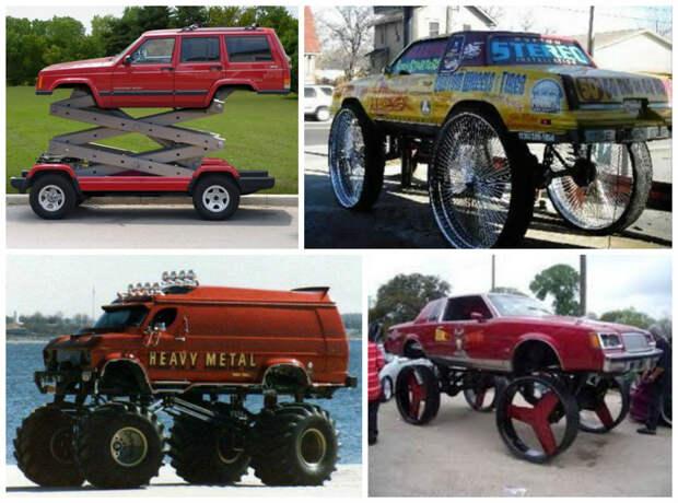 А большие колеса? интересное, машины, странные