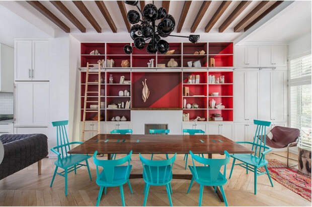 Оригинальная столовая от Jessica Helgerson Interior Design