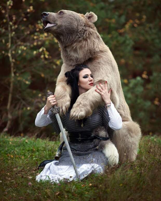 Медведь Степан и его жизнь в русской семье Медведь Степан, животные, медведь