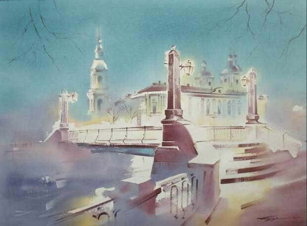 художник Константин Кузема акварель картины - 22
