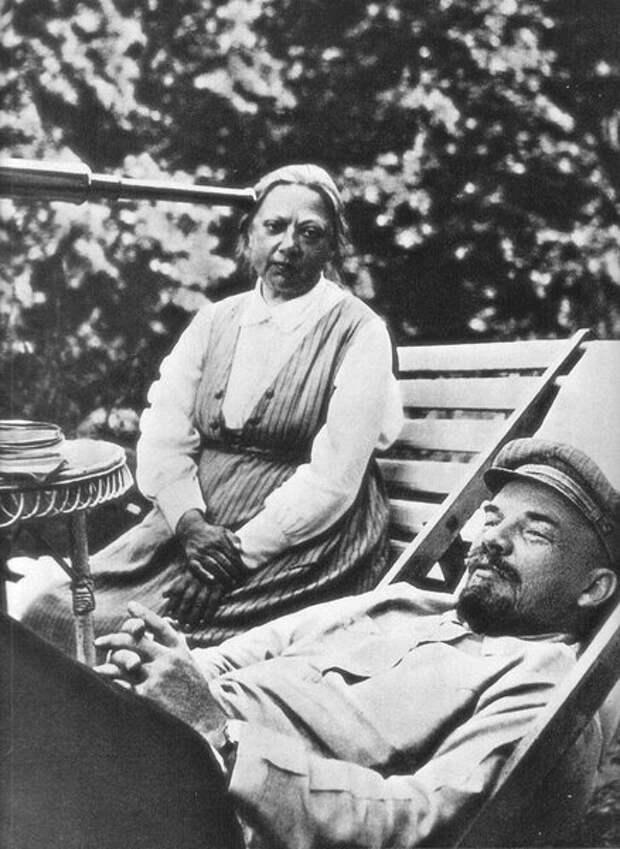 Владимир Ленин и Надежда Крупская, 1922 год