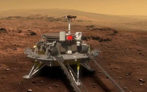 Китайский аппарат впервые в истории успешно приземлился на Марс