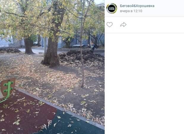 Благоустройство двора на Ленинградке завершится до 25 октября