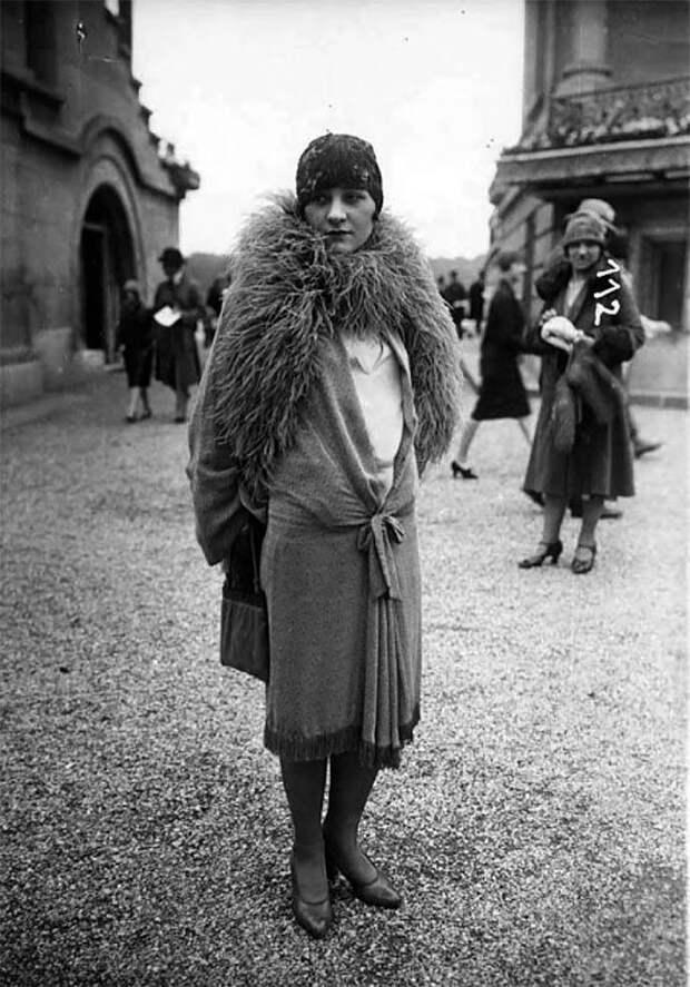 Париж, 1920-е Стиль, винтаж, двадцатые, женщина, мода, прошлое, улица, фотография